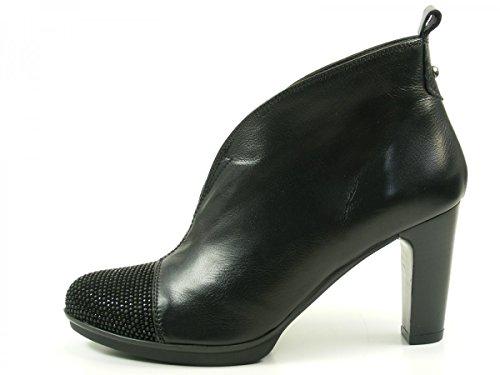 HispanitasAmberes HI63891 Botines de cuero para mujer Ankle Boots Schwarz