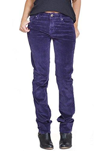 Onado Skinny Slim tel 36 Pantalon Velours Violet en Stretch C rwfZYqr6