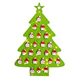 HOMEMIX 1pcs Christmas Advent Calendar Countdown Christmas Tree Advent Calendar with Lamp and Clip | Hanging Calendars Xmas Decor Theme,Perfect for Home or Office(Green)
