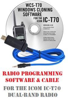 Icom IC-T70 Two-Way Radio Programming Software & Cable Kit