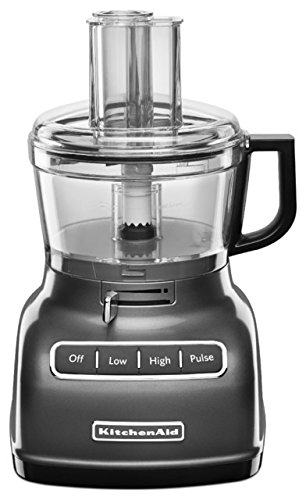 KitchenAid RKFP0722QG 7-Cup (CERTIFIED REFURBISHED) Food Processor with Exact Slice System - Liquid Graphite