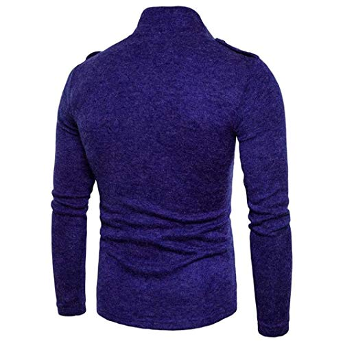 Blau Winter Fit Collar Coat Autumn Outerwear Vintage Apparel Stand Men's Sleeve Jacket Leisure Slim Fashion Coat Huixin Long Jackets x74U8aq