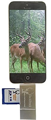 BuckStruck Game and Trail Camera Viewer for Apple iPhone, iPad, iPod - Includes Lightning Extender - For Hunting and Game Cameras - Reads SD, SDHC and Micro SD Cards