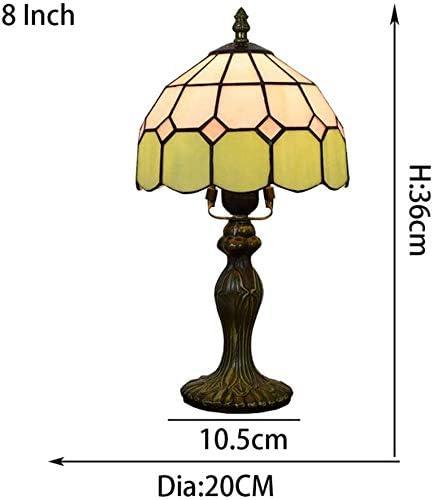 MARUA 8-Zoll-glasmalerei Tiffany-Stil Tischleuchte Mit Zink-Legierung Basis Verwenden, Birne Für Innenanwendungen, Multicolor, 13 Zoll Höhe, 1