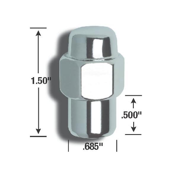 7//16-Inch Thread Size Gorilla Automotive 70077B Acorn Open End Lug Nuts
