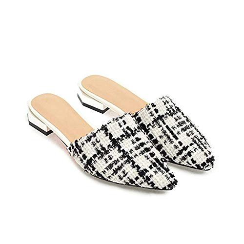 T-JULY 2018 Fashion Fashion Flat Sandals Pointed & Closed Toe Mules Home Slippers Slides Slip On Lazy Dress Shoes by T-JULY (Image #2)