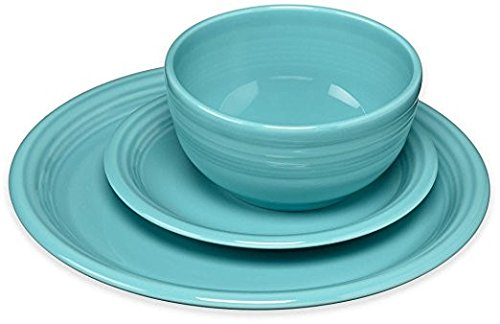 Fiesta 107-1482 3 Piece Bistro Set, Turquoise China Dinnerware Manufacturers