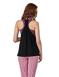 Lotsyle Women's Double layer Sports Bra Vest Yoga Fitness Training Tank Top