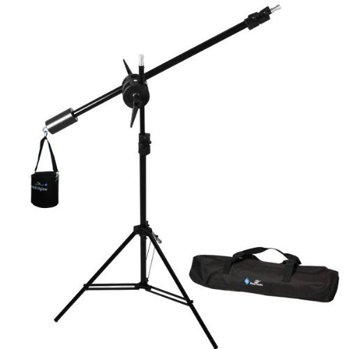 LimoStudio Photo Studio Overhead Boom Light Stand Kit with Counter Weight Sand Bag, Carry Case, AGG1747 by LimoStudio