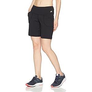 New Balance Women's Premium Performance 8-Inch Shorts, Black, Medium