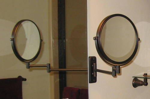 Elegant Bronze Make up Mirror Strong 7x for Makeup