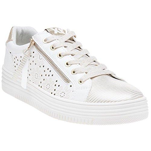 Xti white Blanc Basses 48030 Femme Cassé Sneakers ZwnZBAq1