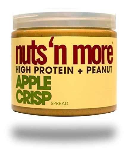 Crunchy Apple Crisp - Nuts 'N More Apple Crisp Peanut Spread, High Protein, Great Tasting, All Natural Sports Nutrition, 16 oz Jar