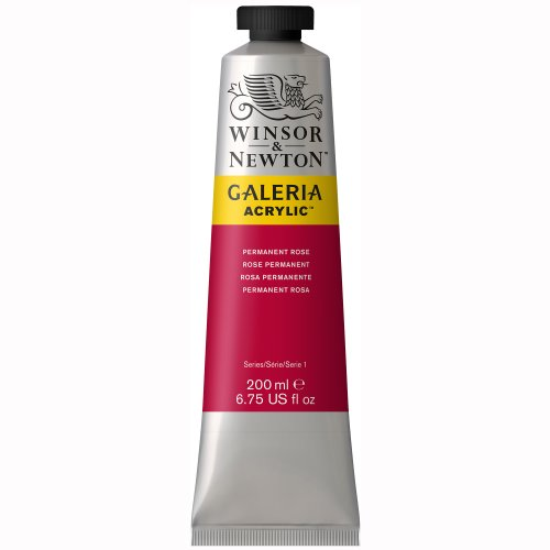 Winsor & Newton Galeria Acrylic Paint, 200ml tube, Permanent Rose