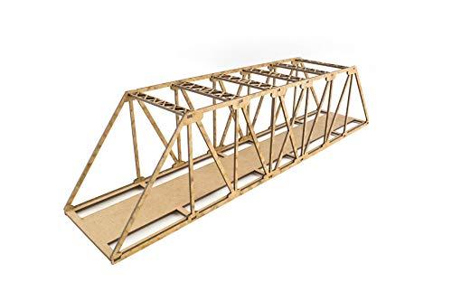 War World Scenics Single Track Low-Detail Girder Bridge 560mm - OO/HO Model Railway Diorama