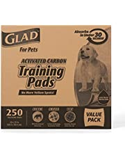 Glad for Pets Black Charcoal Puppy Pads-Puppy Potty Dog Training Pads That Absorb & NEUTRALIZE Urine Instantly-Training Pads for Dogs, Dog Pee Pads, Pee Pads for Dogs, Dog Crate Pads