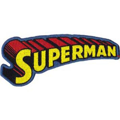 superman text logo patch