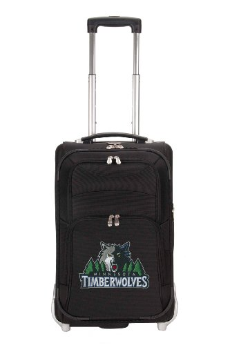 nba-minnesota-timberwolves-denco-21-inch-carry-on-luggage-black