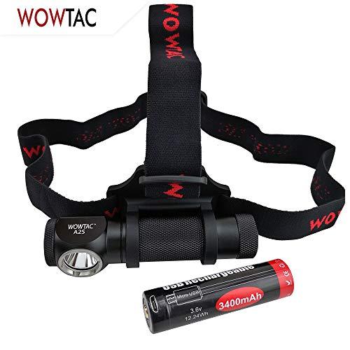 WOWTAC A2S LED Headlamp Headlight 5 Modes Max 1050 Lumen Waterproof Headlamps, Super Bright Outdoor Sports Running Walking Camping Reading Hiking Fishing Neutral White
