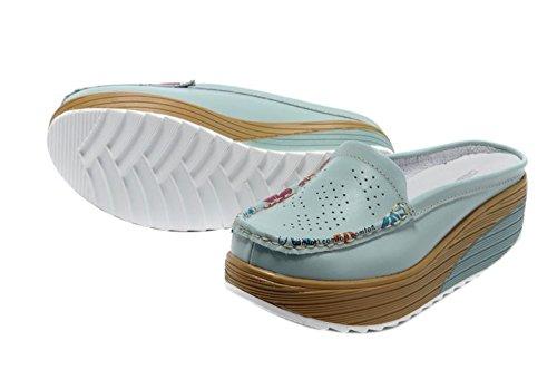 SK Studio - Sandalias de vestir para mujer Azul