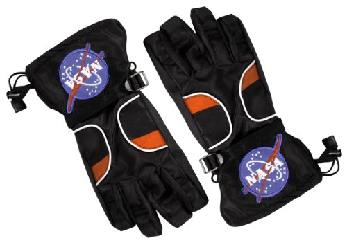 Aeromax Astronaut Gloves, size Medium, Black, with NASA patches