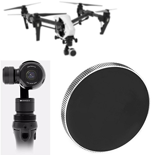 HDStars Protective Lens Cap For DJI Zenmuse X3 Camera Lens with OSMO Osmo+ or Inspire 1 version Quadcopter (Black-Metal)