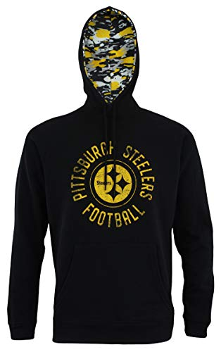 Steelers Pullover Pittsburgh - Zubaz NFL Men's Team Camo Lined Pullover Hoodie, Pittsburgh Steelers Large