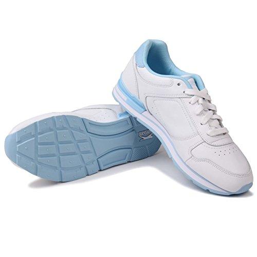Blau Slazenger de Blanco Pow Piel Weiß Zapatillas mujer para z48xwRqz