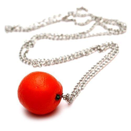 Arance collana - ca, 70 cm collana lunga - frutta ciondolo Arancione Party WeAreAwesome