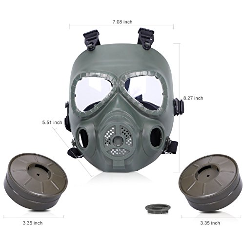 Bienna Airsoft Tactical Paintball Protective Full Face Eye