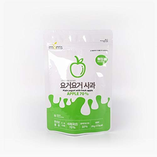 moms YogurYogur Apple , ,Freeze – Dried Apple & Yogurt Snack , 0.7Oz(Pack of 3)_ No artificial colors , flavors , or preservatives , Korean Yogurt Food Snack
