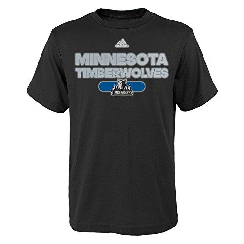 - NBA Reflective Authentic Short Sleeve Tee-Black-L(14-16), Minnesota Timberwolves