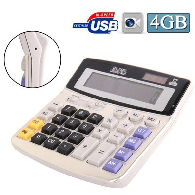 Full sized Solar powered Calculator Spy Camera (640 x 480 @ 30fps, 4GB) by Online-Enterprises [並行輸入品] B01KBR8C4M