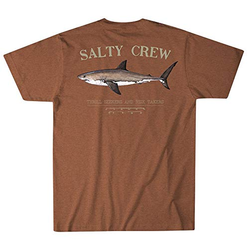 (Salty Crew Men's Bruce Short Sleeve T-Shirt, Spiced Heather, Small)