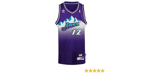 quality design 2b0a1 570b1 adidas John Stockton Utah Jazz NBA Throwback Swingman Mountains Jersey -  Purple