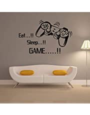 Gaming Vinyl Wall Stickers Art Joystick Video Game Wall Sticker Self-adhesive Wallpaper Creative Poster For Boys-XX