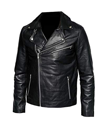 T&I Texas Zipper Style Leather Jacket for Men - Mens Leather Jacket