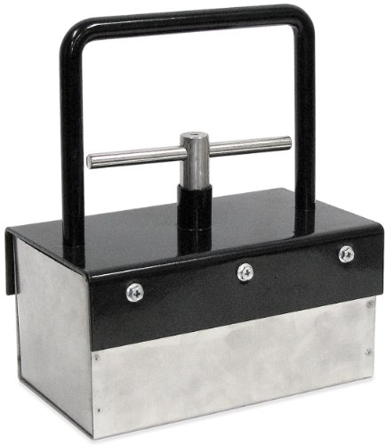"Heavy-Duty Magnetic Bulk Parts Lifter with Release, 8.5"" Length, 4.75"" Width, 9.75"" Height Including Handle, 10 Pounds Capacity, 1 Each"