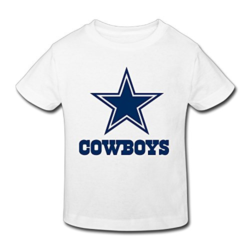 Logo White Toddler T-shirt (KNOT Funny Cowboys Logo Kids Toddler T Shirts White US Size 5-6)