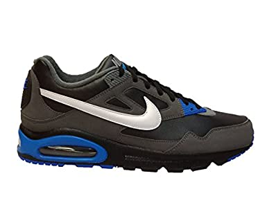 ncfal Nike Mens Air Max Skyline EU Black White Dark Grey Leather Trainer