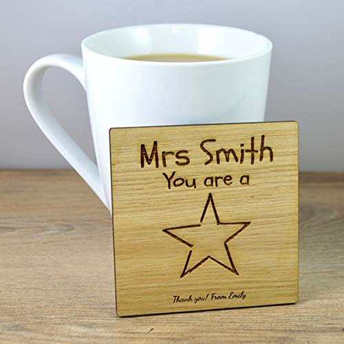 Diuangfoong Youre A Star Wooden Coaster End of Term Leaving Gift for School Nursery Teacher