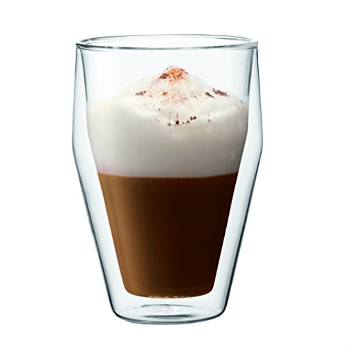 Bodum Torst 2-Piece 12-Ounce Double Wall Glass, Medium, C...