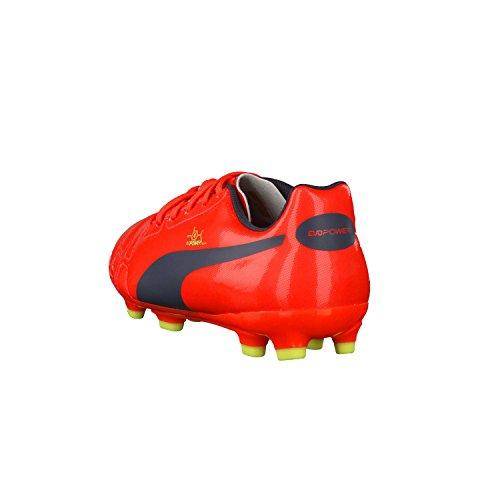 Puma evoPOWER 4 AG Jr Unisex-Kinder Fußballschuhe - peach-ombre blue-yellow