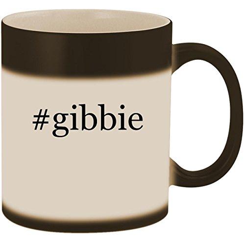 #gibbie - 11oz Ceramic Color Changing Heat Sensitive Coffee Mug Cup, Matte Black -