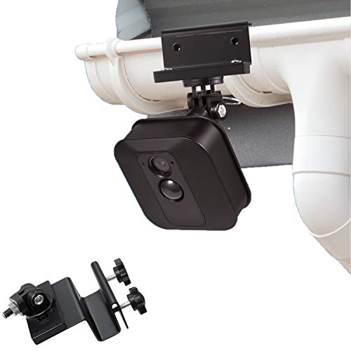 Weatherproof Gutter Mount for Blink XT Outdoor Camera with Universal Screw Adapter - by Wasserstein - Best Viewing Angle for Your Surveillance Camera (Black)