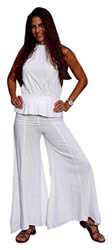 Lirome Organic Gauze Cotton Ella Wide Legs Pant (L) (Pant Gauze Leg)