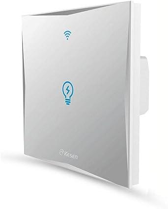 2 fois ks-601 Noir Smart Interrupteur WLAN APP Touch Google Home Amazon Alex