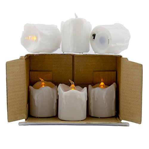 (CVC Flameless Candle Set with Timers - Battery-Operated White Candles - 1.75