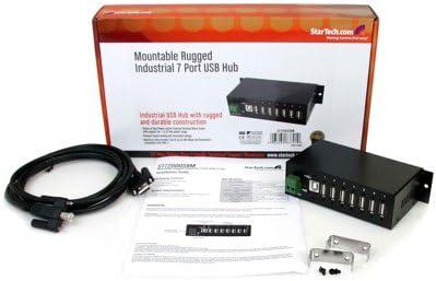 StarTech ST7200USBM Mountable Rugged Industrial 7 Port USB Hub 7 x USB 2.0 DC power DIN rail mountable for P//N: MSDREADU2OTG Hub