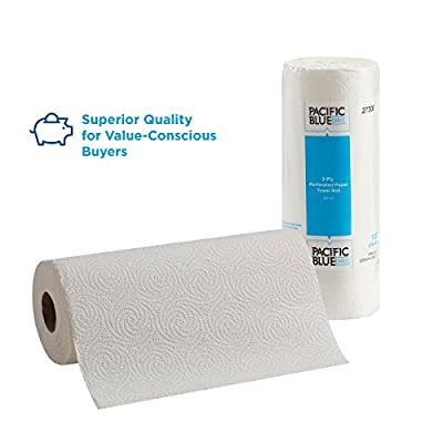 Pacific Blue Select 2-Ply Perforated Roll Paper Towels by Georgia-Pacific Pro, 100 Sheets Per Roll, 30 Rolls Per Case, white - 27300: Industrial & Scientific